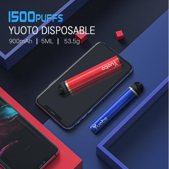 YUOTO 5 DISPOSABLE 900mAh 1PC